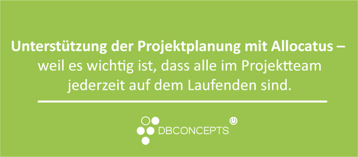 Microsoft Project und Outlook integrierte Projektplanung, Ressourcenplanung mit Allocatus