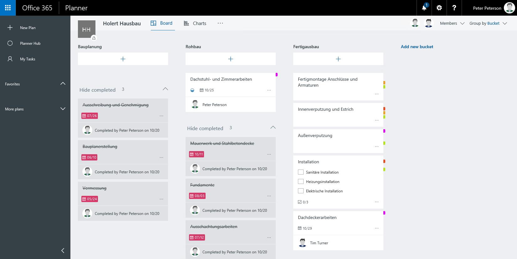 Office 365 Planner Screenshot